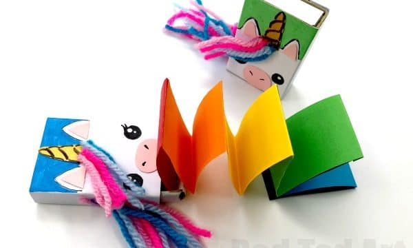 Matchbox Unicorn Notebook DIY