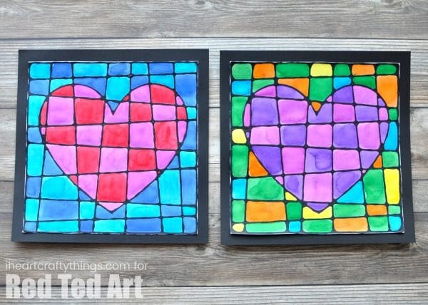 Black Glue Heart Art Project Stained Gled How Beautiful Is This