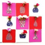 Mini Vase Cards for Real Flowers
