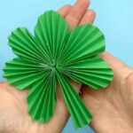 Paper Fan Shamrock Decorations