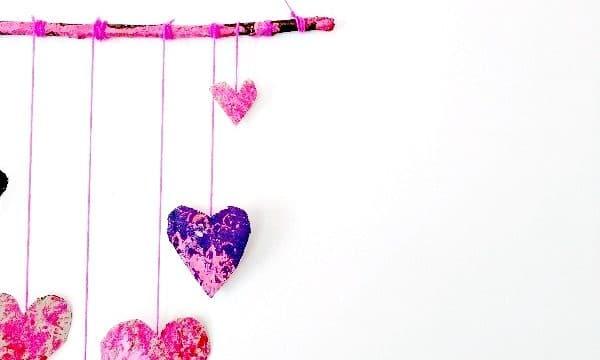 Process Art Valentine's Wall Hanging