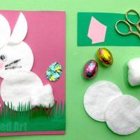 Cotton Wool Bunny Card for Preschool