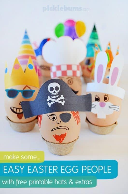 egg people printable