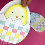 Easter Chick Cards Printables – Woven Eggs