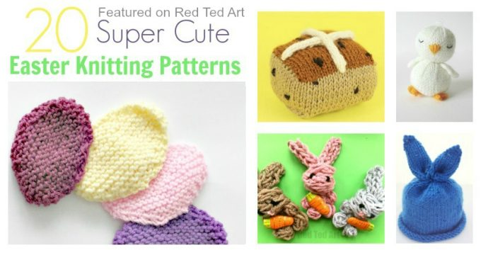 Knitting archives red ted arts blog easter knitting patterns negle Choice Image