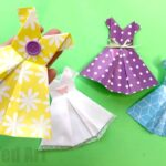 How to make an Origami Dress easy