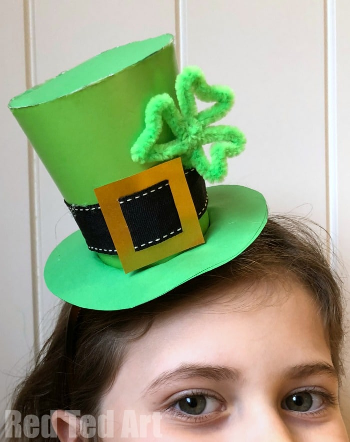 leprechaun mask template - st patrick 39 s day hat diy red ted art 39 s blog
