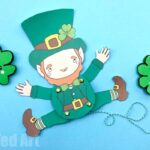 Articulated Leprechaun Paper Puppet for St Patrick's Day