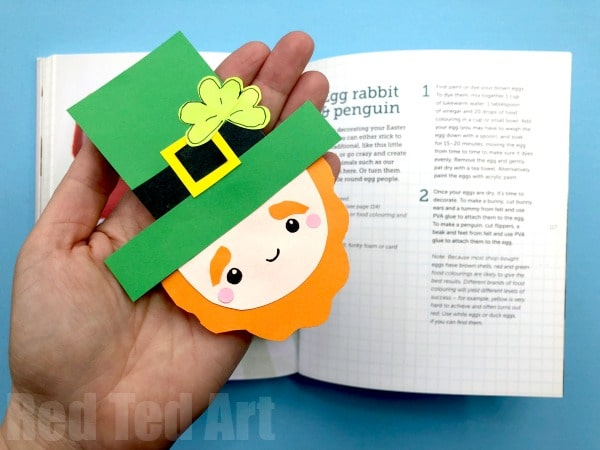 Leprechaun Corner Bookmark For St Paddys Day Red Ted Arts Blog