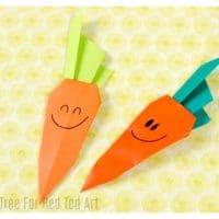 Easy Origami Carrot for Easter