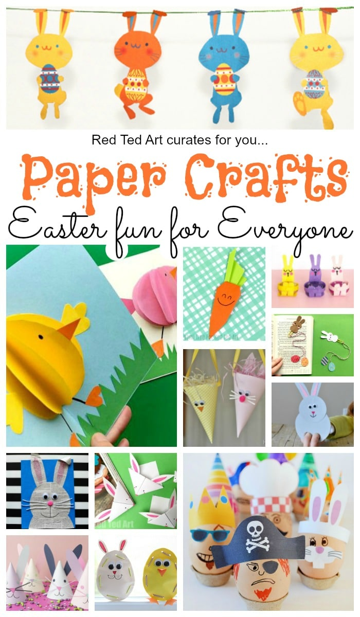 Easter Paper Crafts - some fabulous cute and easy Paper Crafts For Easter. From Paper Easter Decorations to the best Easter Printables #easter #papercrafts #printables