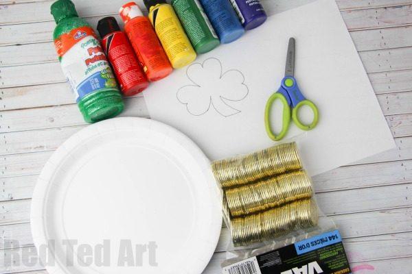 4 paper plates (two paper plates per St Patrick\u0027s Day Tambourine) ... & Paper Plate Tambourine for St Patrick\u0027s Day - Red Ted Art\u0027s Blog