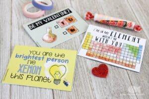 Printable Chemistry Valentines cards