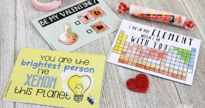 Printable Science Valentines Cards