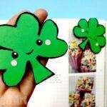 Easy Shamrock Corner Bookmark Design for St Patrick's Day