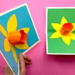 3d Pop Up Daffodil Card