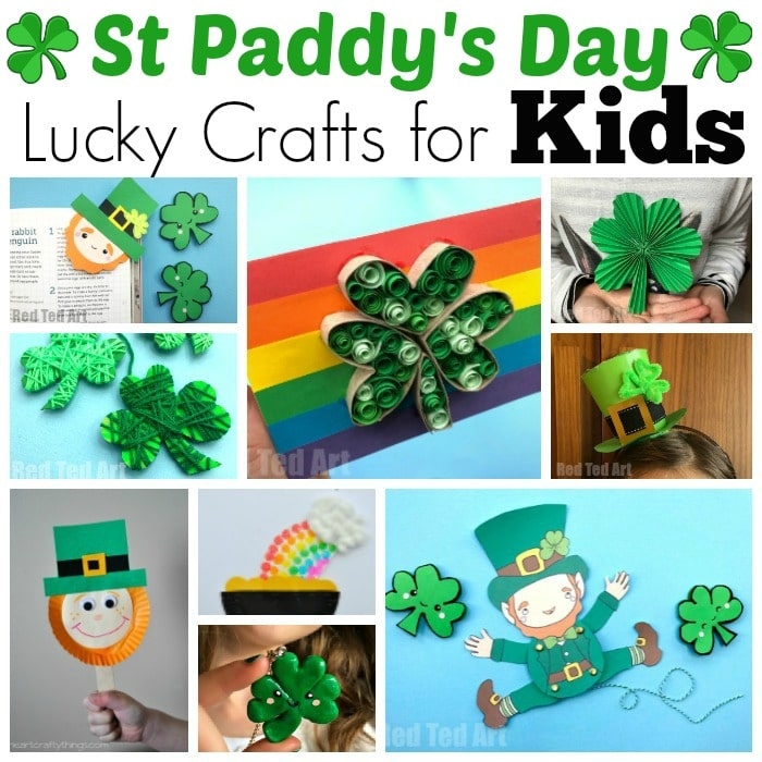 Easy St Patrick S Day Crafts For Kids Red Ted Art