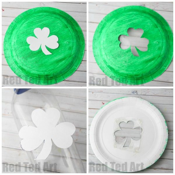 paper plate tambourine for st patrick s day red ted art s blog