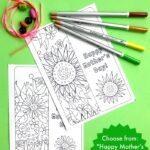 Printable Flower Bookmark