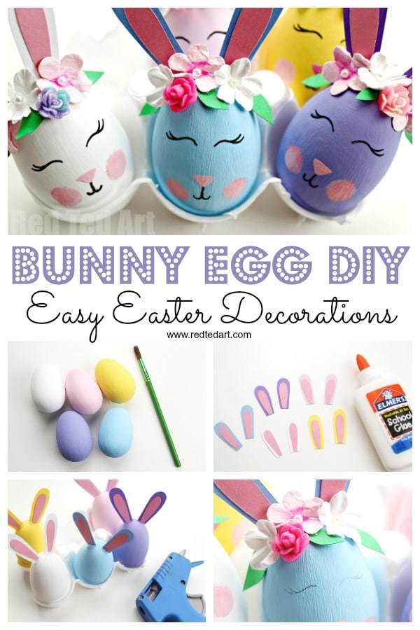 Flower Bunny Egg DIY - Red Ted Art