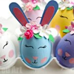 Flower Bunny Egg DIY