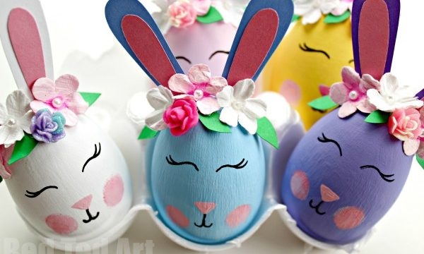 Flower Bunny Egg DIY