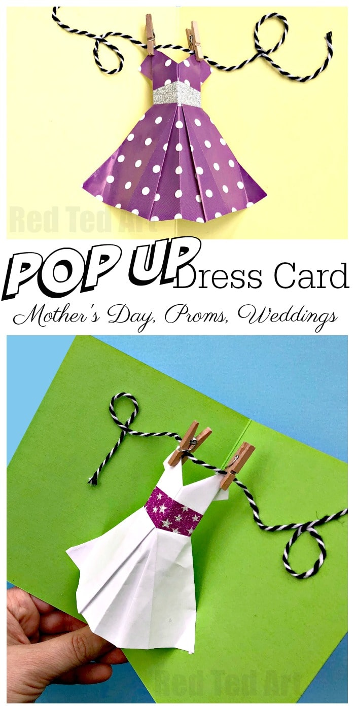 Homemade Origami Card to Make - Cute Dress Design with Photo ... | 1400x700