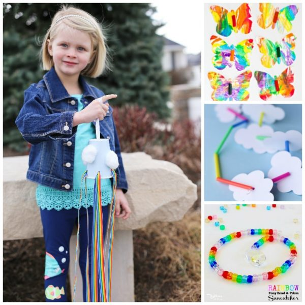 Rainbow Crafts for Preschool - oh what adorable Rainbow Activities for Toddlers. These are so cute. Perfect for weather studies, Spring crafts and of course St Patrick's Day Crafts! #toddler #preschool #rainbow #weather #stpatricksday