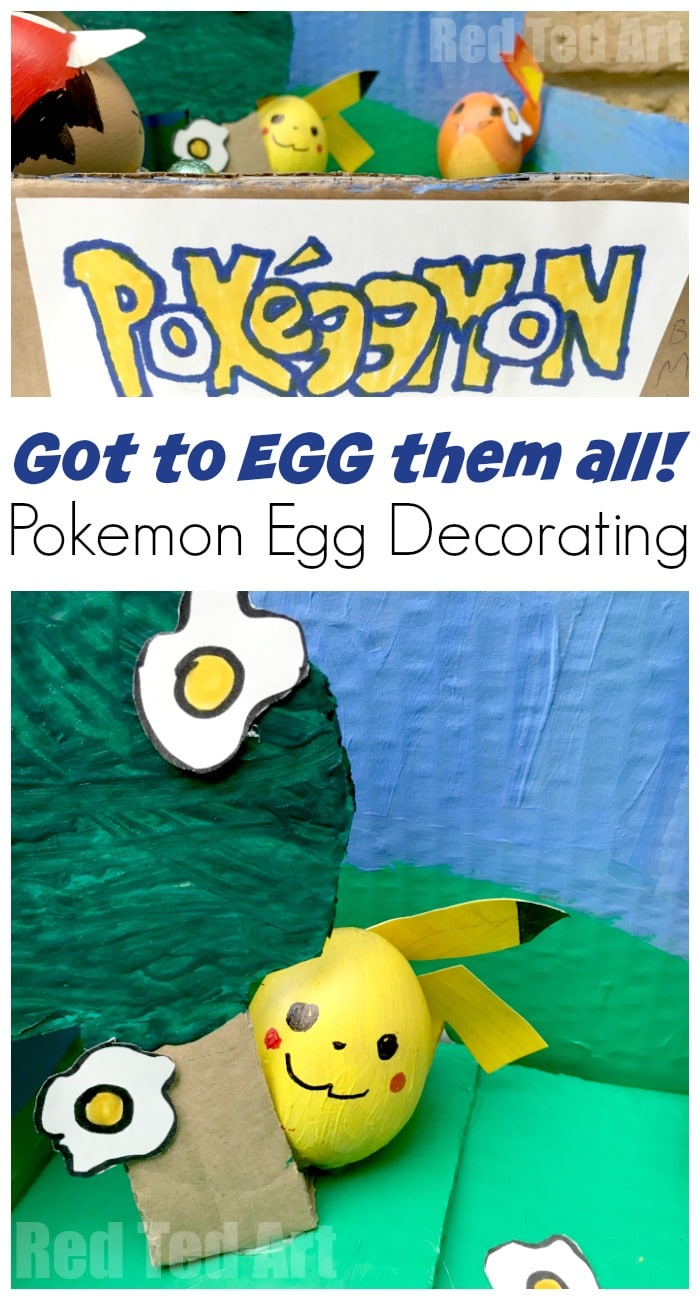 Pokemon DIY Egg Diorama. School Egg Decorating competion. Egg puns for Pokemon #pokemon #eggs #easter