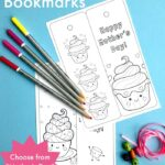 Printable Cupcake Bookmark