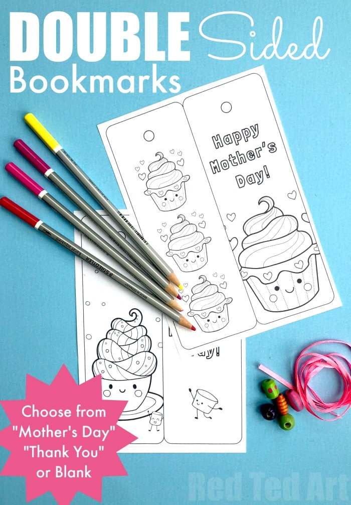 image about Bookmarks Printable identified as Printable Cupcake Bookmark - Crimson Ted Artwork