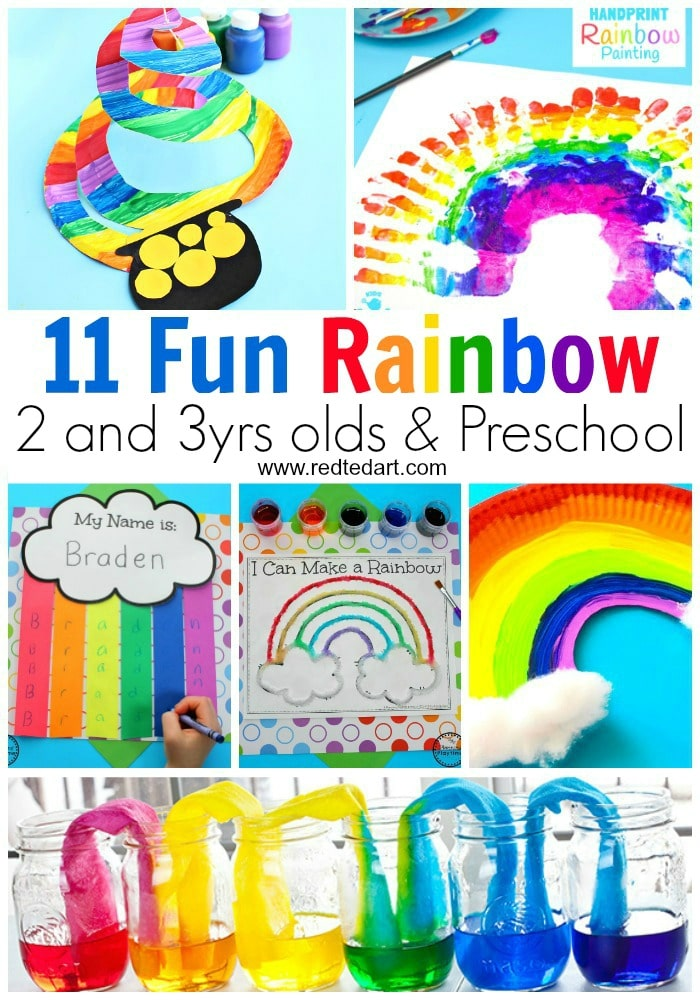 Rainbow Crafts For Preschool Red Ted Art