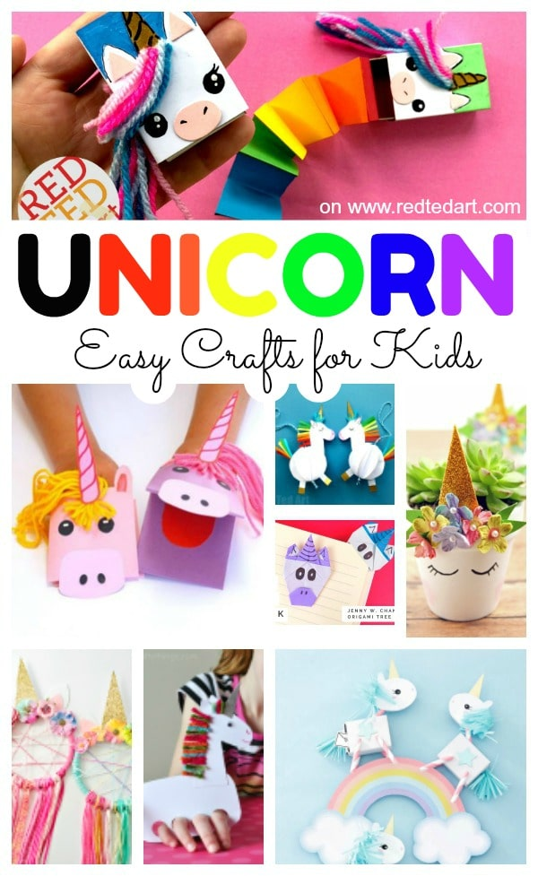 Easy Unicorn Crafts for Kids - fun Unicorn DIY ideas and Easy Unicorn Decorations for Kids, for teens and for adults. Best Unicorn Craft Ideas #unicorns #unicorncrafts #diy #roomdecor #forteens #forkids