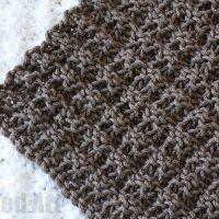 Waffle Stitch Dish Cloth Knitting Pattern