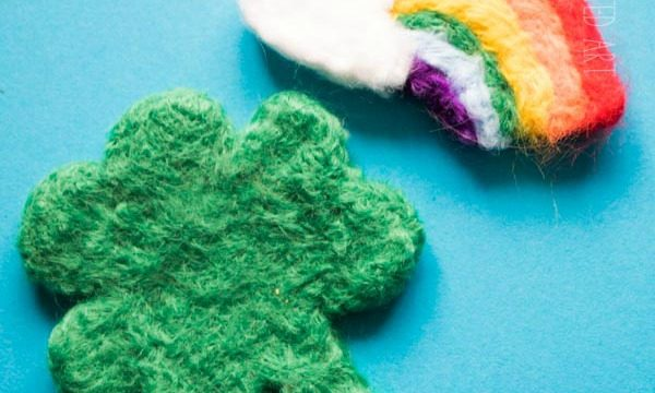 Needle Felting Shamrock How To