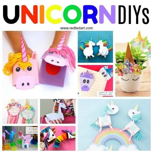 DIY Unicorn Crafts for kids of all ages. We love Unicorn DIYs #unicorns