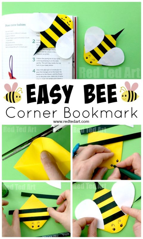 Bee Corner Bookmark Paper Crafts For Kids Red Ted Art S Blog