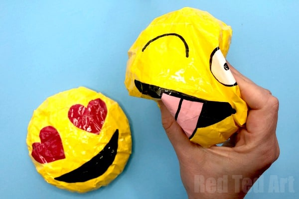 How To Make Paper Squishies Emoji Red Ted Arts Blog