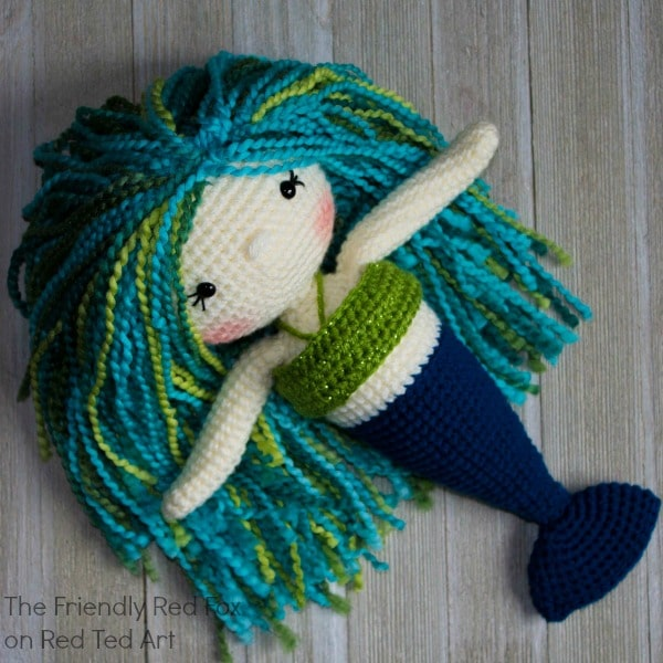 Free Mermaid Crochet Pattern Red Ted Art