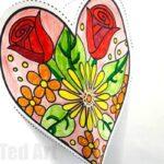 Pop Up Heart Card Printable