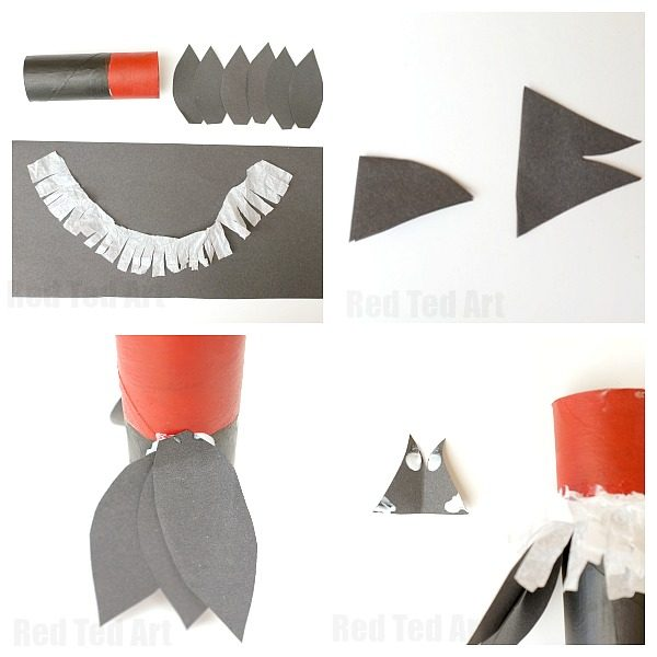 V is for Vulture - a cute Toilet Paper Roll Vulture Craft for Preschool. We love this Toilet Paper Roll A-Z! So fun!!!! Could easily be adapted to be a Bald Eagle for E is for Eagle or 4th July #toiletpaperrolls #vulture #preschool #4thjuly