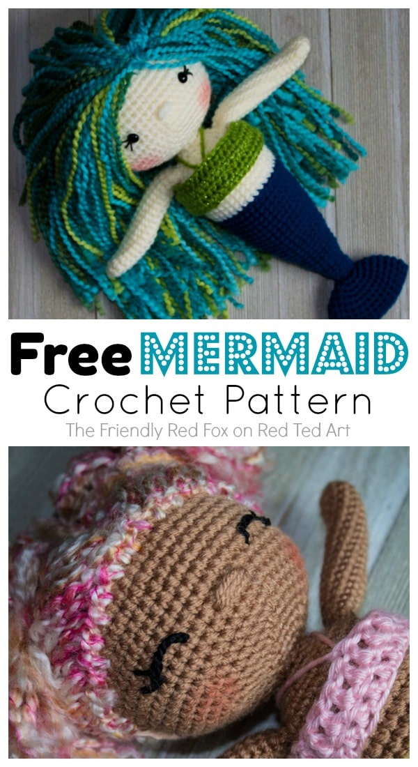 Free Mermaid Crochet Pattern Red Ted Arts Blog