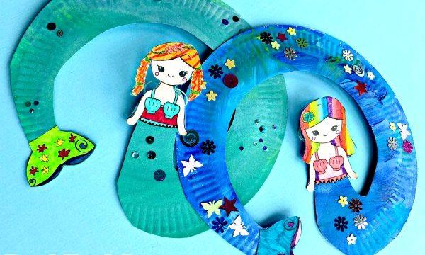 Paper Plate Mermaid Twirler
