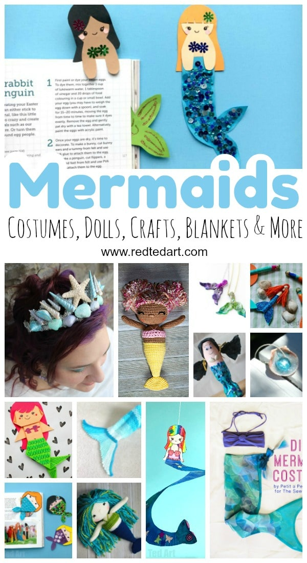 Diy Mermaid Craft Ideas Red Ted Art S Blog