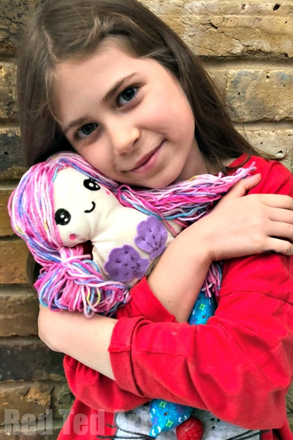 Mermaid Doll Pattern - Sewing with Kids - How to make a Mermaid Rag Doll #mermaid #doll #patterns #sewingwithkids