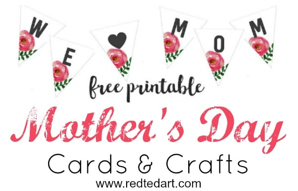 photo regarding Printable Mothers Day Pictures titled Printable Moms Working day Playing cards Crafts - Pink Ted Artwork