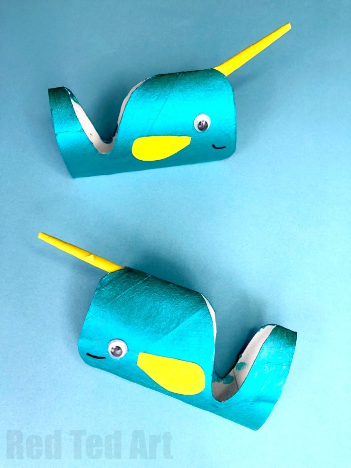 Toilet Paper Roll Narwhal Craft - Red Ted Art