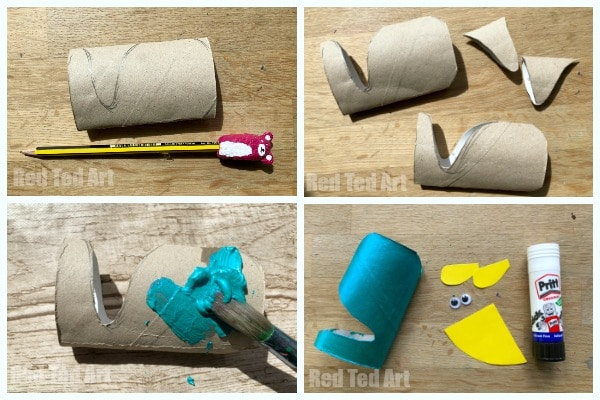Toilet Paper Roll Narwhal Craft - easy Preschool ABC Craft. Explore the alphabet with this fun set of Toilet Paper Roll Crafts!! A lovely Narhwal for preschoolers and toddlers! #tproll #narhwals #toddlers #preschool #abc