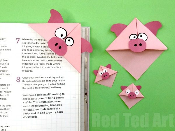 Fun with Corner Bookmark Designs for Chinese New Year. Explore the Chinese Zodiac Animals.