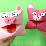 Pig Cootie Catcher Craft